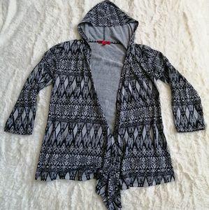 Hot Kiss Hooded Shall Black & Grey